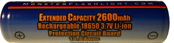 2600mAh 10A Extended Capacity 18650 Battery